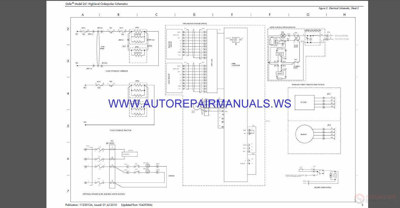 Raymond 261 High-Level Order Picker Schematics Manual SN