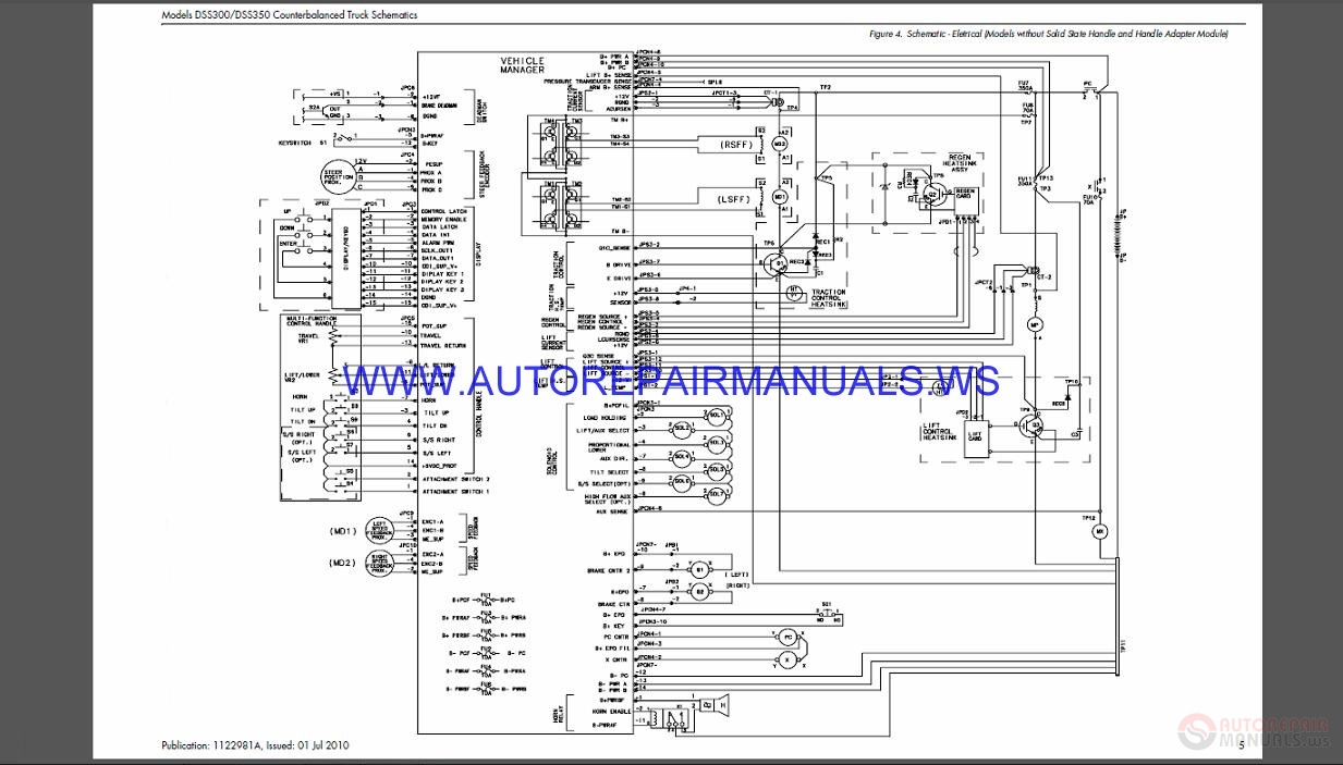 Raymond DSS300-350 Counterbalanced Truck Schematics Manual