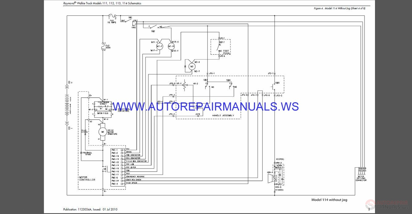 Raymond Truck 111-112-113-114 Schematics Manual SN 20000