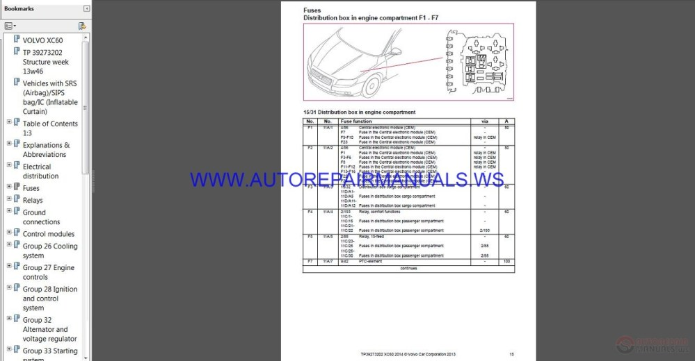 medium resolution of volvo xc60 2014 2015a wiring diagram auto repair manual
