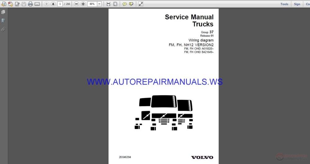 medium resolution of volvo trucks fh wiring diagram wd service manual auto repair img