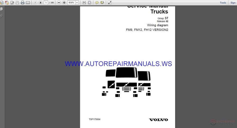 medium resolution of volvo trucks fm9 fm12 fh12 version2 wiring diagram service