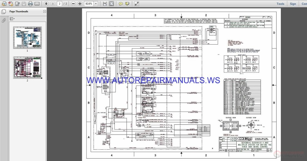 medium resolution of terex lift ta 64 electrical schematic wiring diagram parts manual img