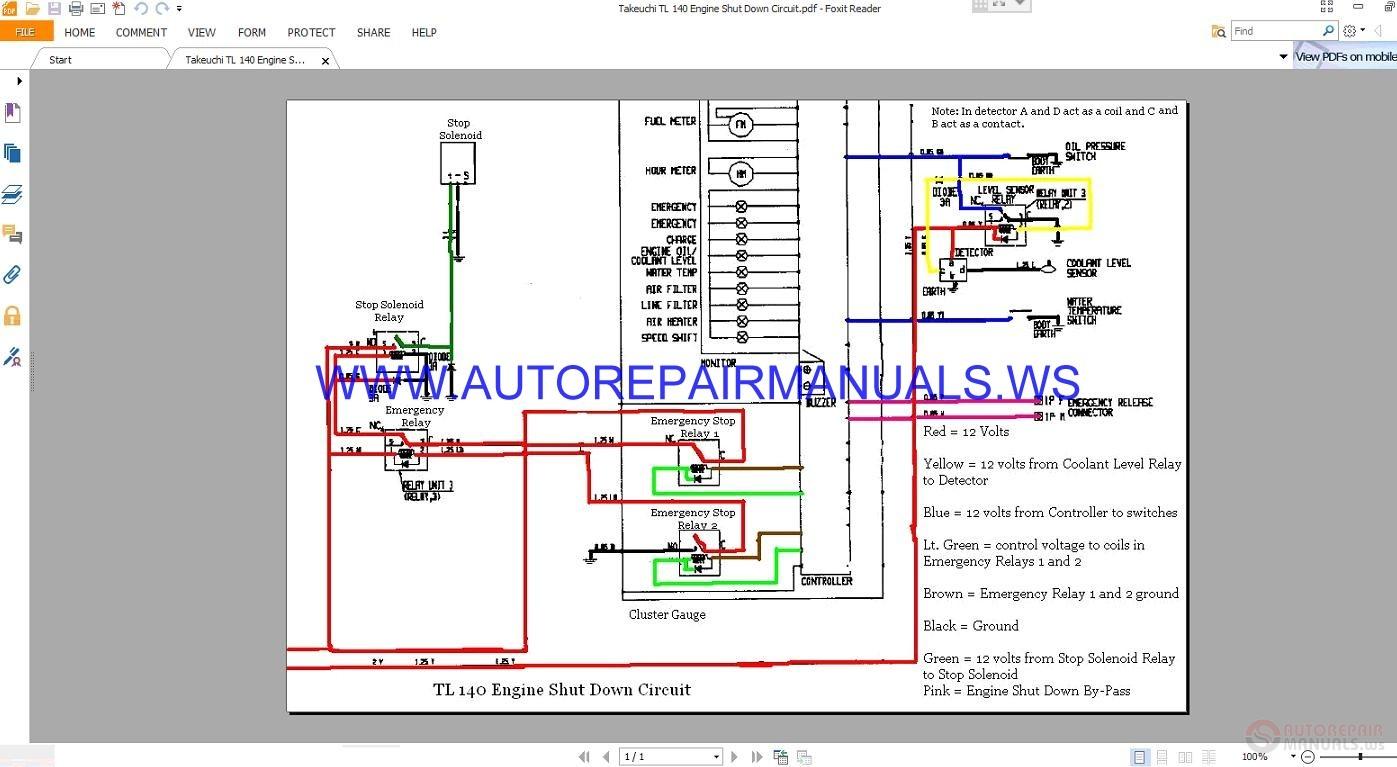 hight resolution of takeuchi wiring diagram wiring diagrams takeuchi tl140 solenoid wiring diagram