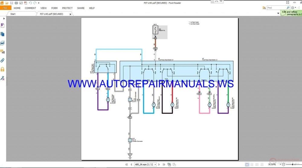 medium resolution of auto repair manuals toyota rav4 electrical wiring 1998 toyota rav4 wiring diagram toyota rav4 radio wiring
