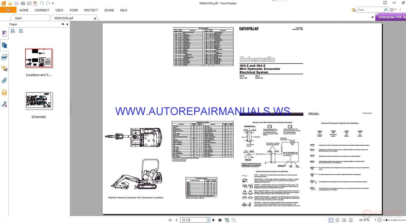 hight resolution of caterpillar 303 5 and 304 5 mini hydraulic excavator electricalexcavator schematics 21