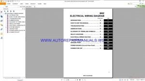 Subaru BRZ Electrical Wiring Diagram Manual 2013 | Auto