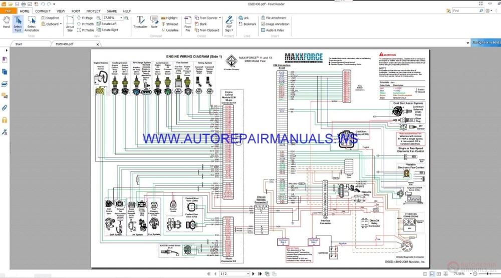 medium resolution of maxxforce eged430 control system wiring diagrams manual navistar wiring harness