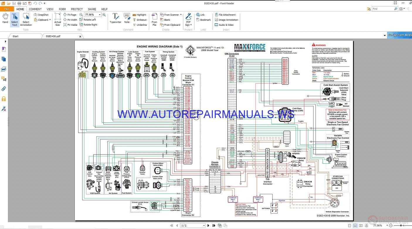 hight resolution of maxxforce eged430 control system wiring diagrams manual navistar wiring harness