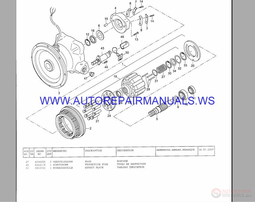 Terex TW 130-140-150 Heavy Wheeled Excavators Parts Manual
