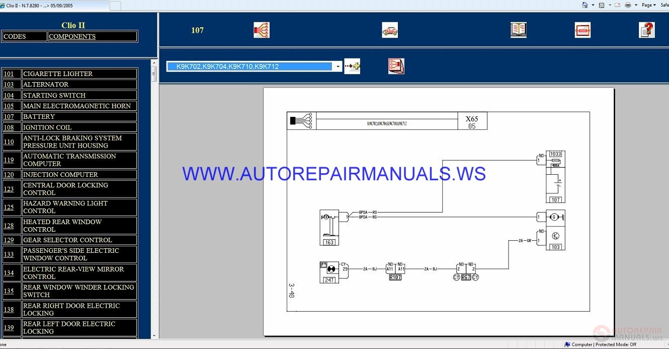 hight resolution of renault clio ii x65 nt8280 disk wiring diagrams manual 05 09 2005renault koleos wiring diagram