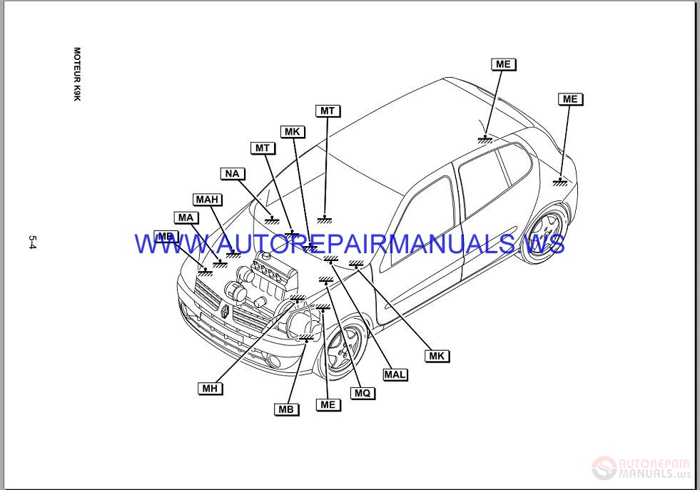 Renault Clio X65 NT8181A Disk Wiring Diagrams Manual 03