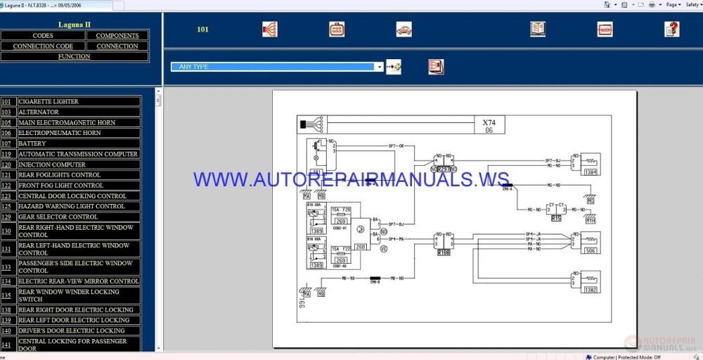 medium resolution of renault laguna ii x74 nt8328 disk wiring diagrams manual 09 05 2006 auto repair manual forum renault clio ii wiring diagrams renault clio 2 wiring diagrams