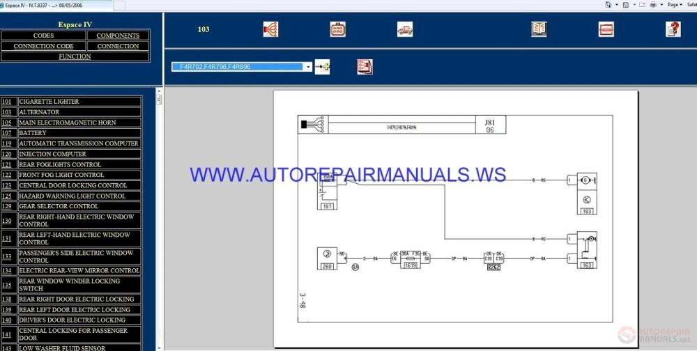 medium resolution of renault espace iv j81 nt8337 disk wiring diagrams manual 08 05 2006 img