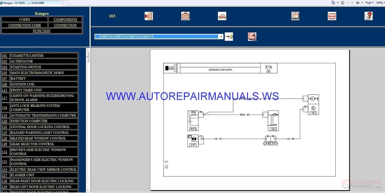 hight resolution of renault kangoo x76 nt8331 disk wiring diagrams manual 10 10 2006 chrysler wiring diagrams renault kangoo renault kangoo central locking
