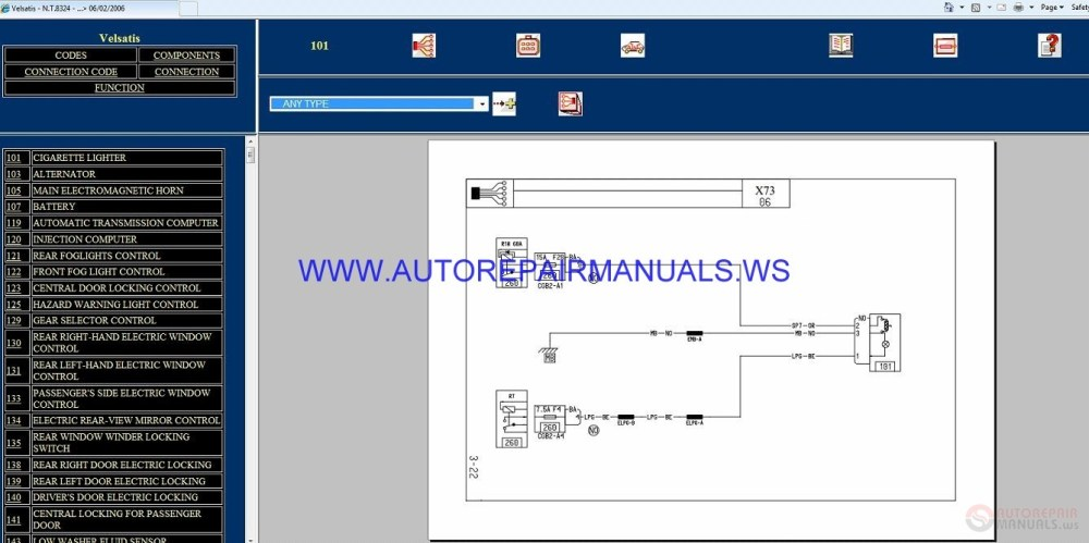 medium resolution of renault velsatis x73 nt8324 disk wiring diagrams manual 06 02 2006 img