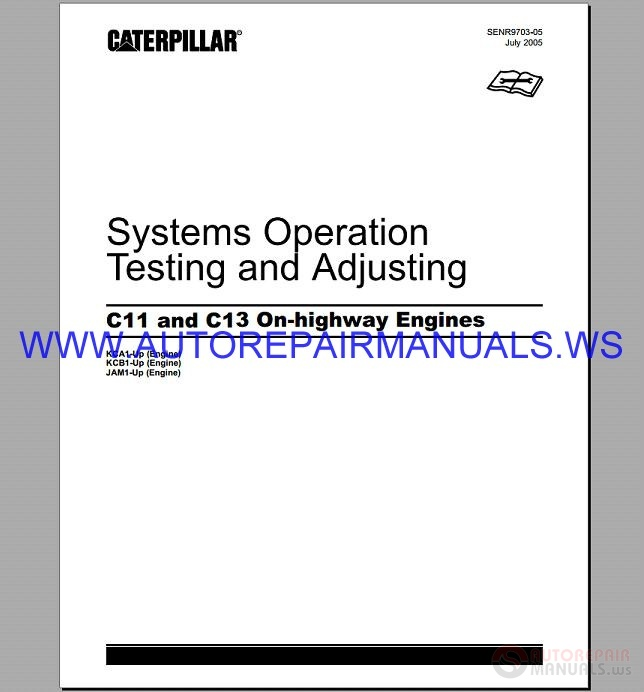 Caterpillar C7-C16 Engine Repair Manual from 2002-2012