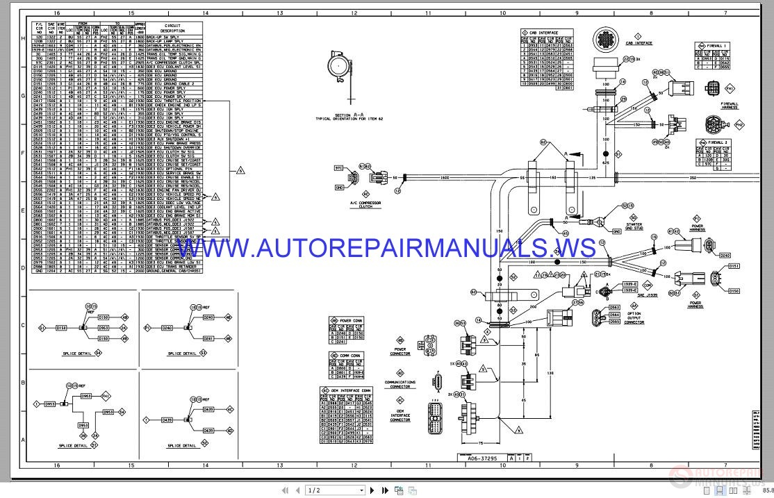Freightliner FLC DD 12.7L Electrical Schematic Manual A06