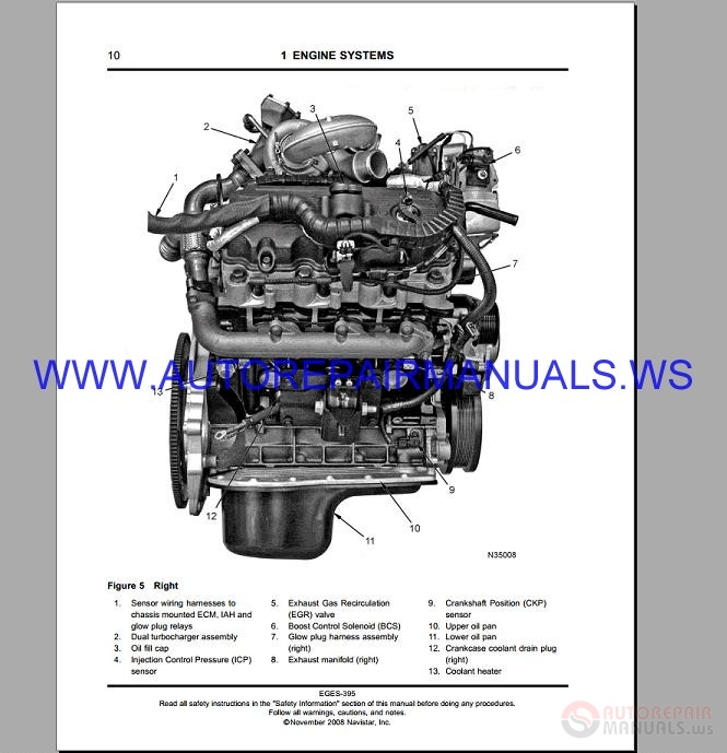 Navistar Maxxforce 5 Diagnostic Engine Service Manual 2007