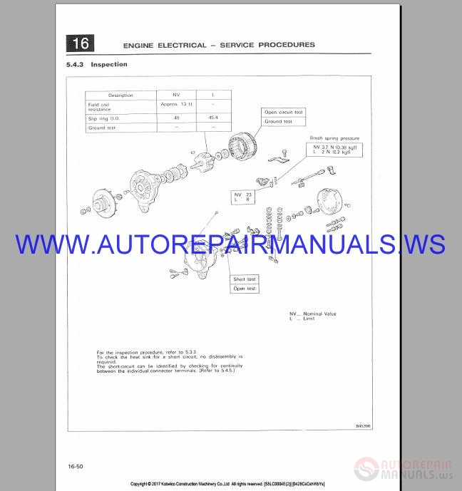 Kobelco SK300-2 SK300LC-2 Hydraulic Excavator Shop Manual