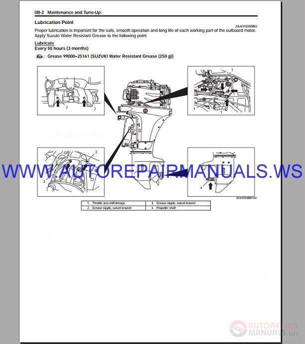 Suzuki Outboard Motor DF40A-60A 4-Stroke Repair Manual