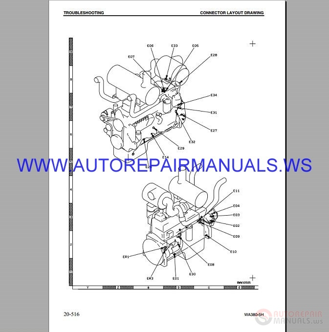 Komatsu WA380-5H Wheel Loader Shop Manual VEBM920100_2002