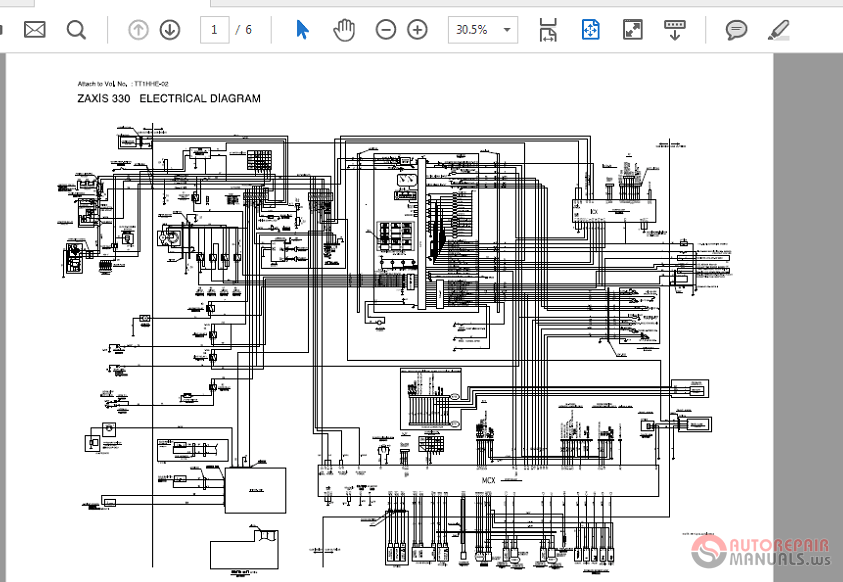 Zaxis Zx330 370mth 330l Wiring Diagram