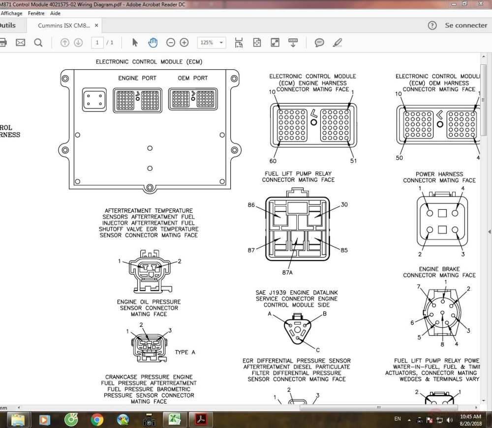 medium resolution of cummins isx cm871 control module 4021575 02 wiring diagram