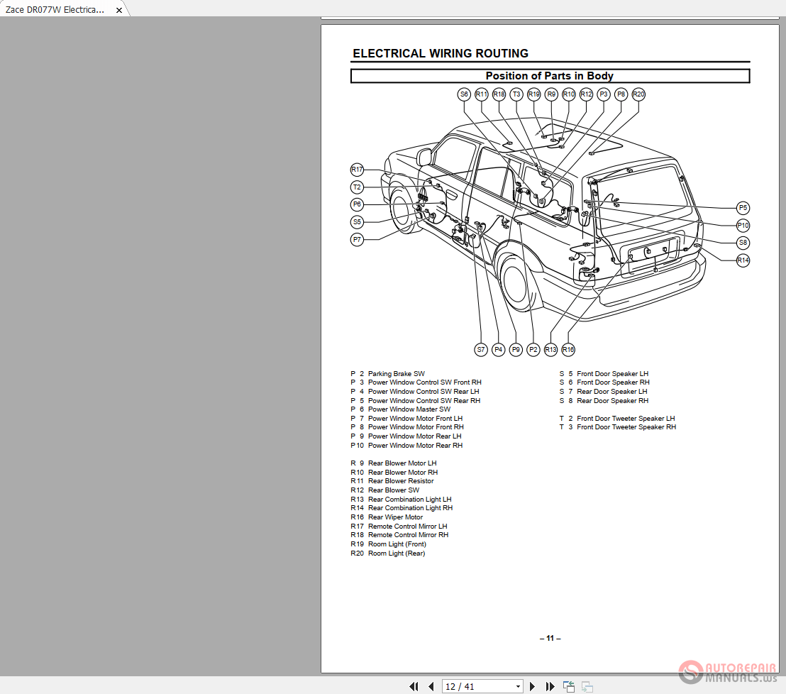 hight resolution of toyota zace dr077w electrical wiring diagram auto repair manual toyota camry 2007 electrical wiring routing auto repair manual forum