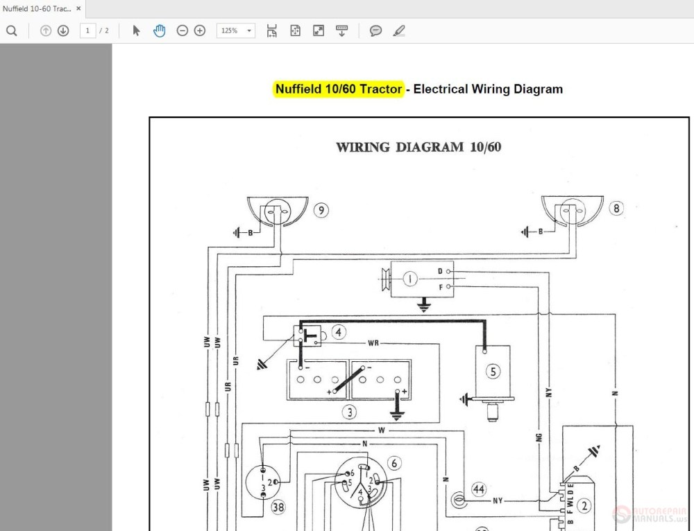 medium resolution of nuffield 10 60 tractor wiring diagrams