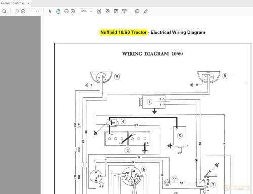small resolution of nuffield 10 60 tractor wiring diagrams