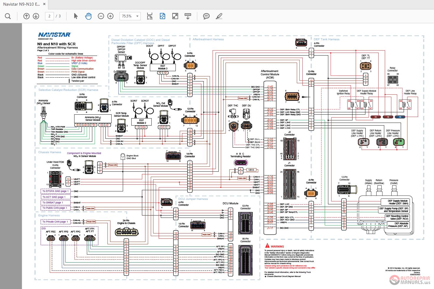 hight resolution of navistar n9 n10 engine wiring diagrams