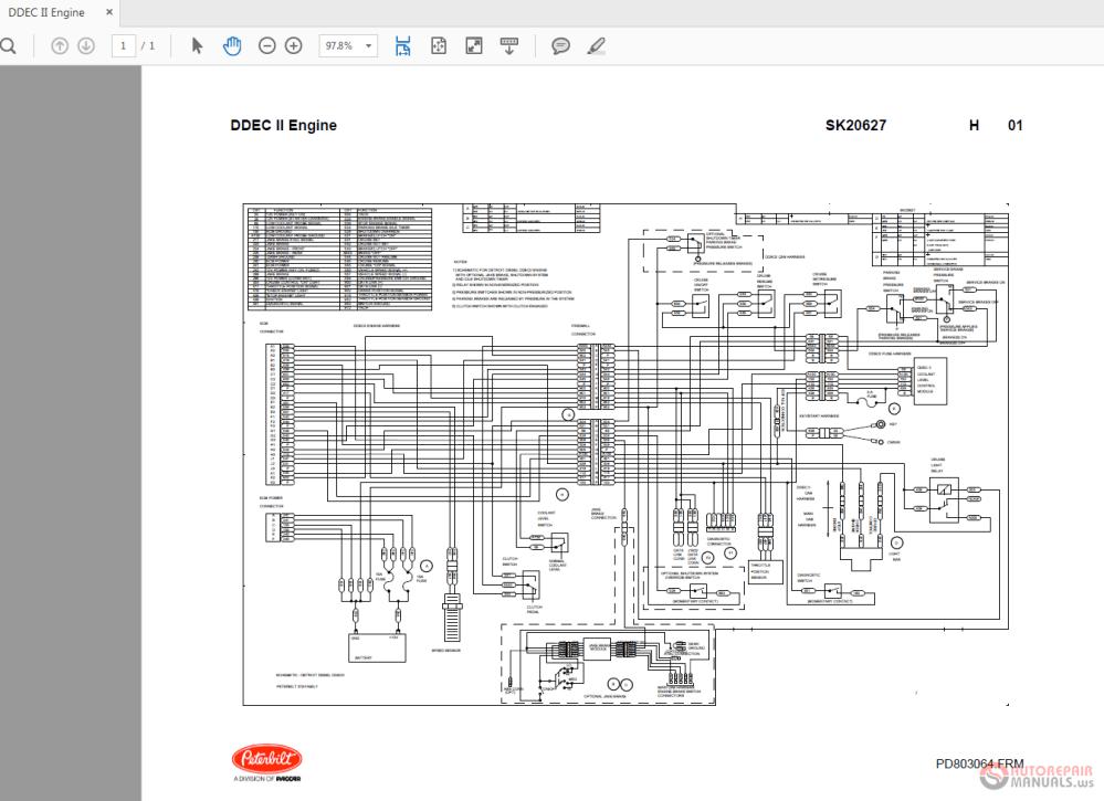 medium resolution of peterbilt ddec ii sk20627 engine wiring diagrams auto repairclick here download