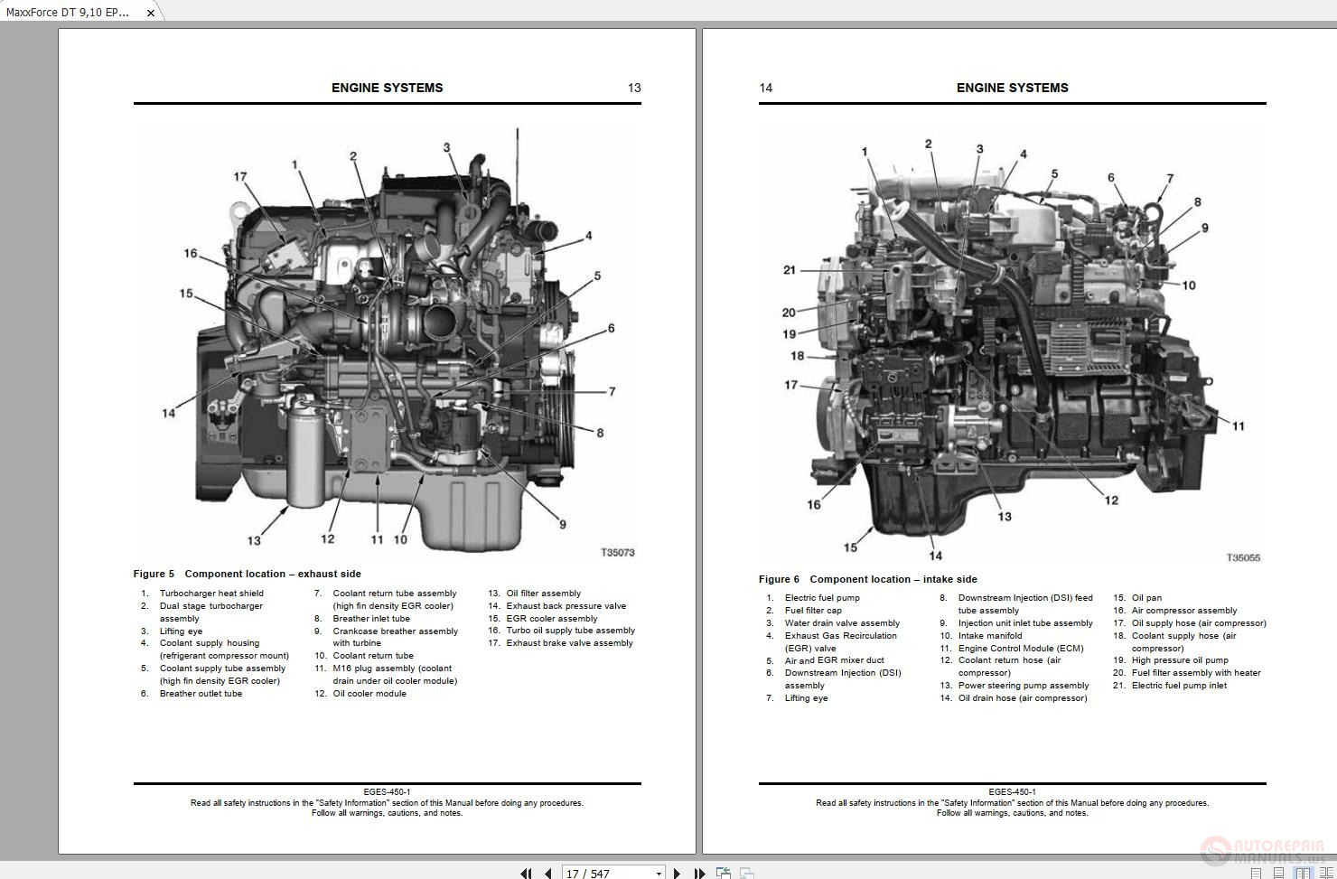 Navistar Maxxforce Dt 9 10 Epa10sel Engine Service