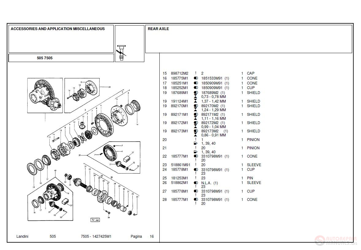 Landini 7505 Accessories And Application Miscellaneous