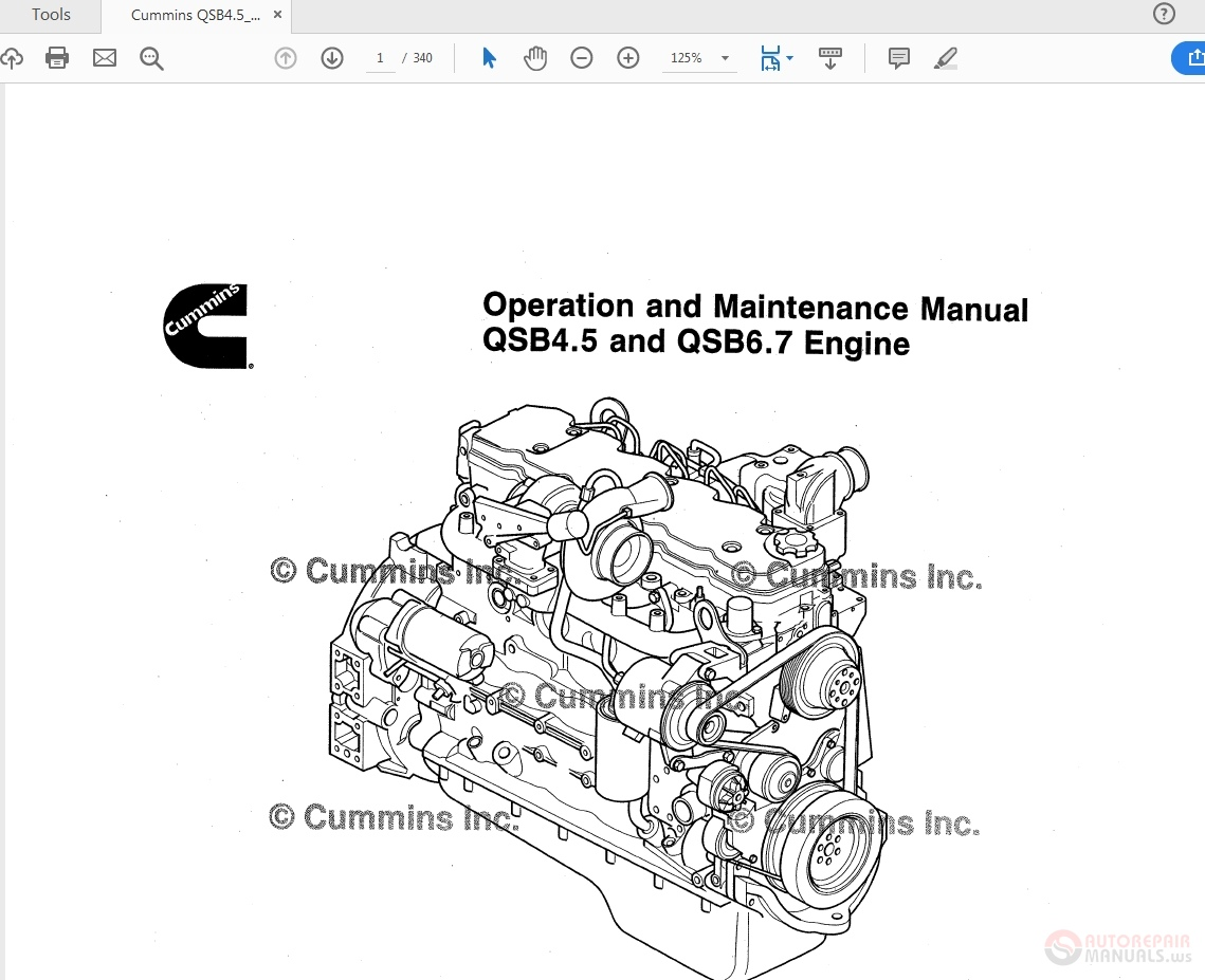 Cummins QSB4.5_QSB6.7 Engine Operation and Maintenance
