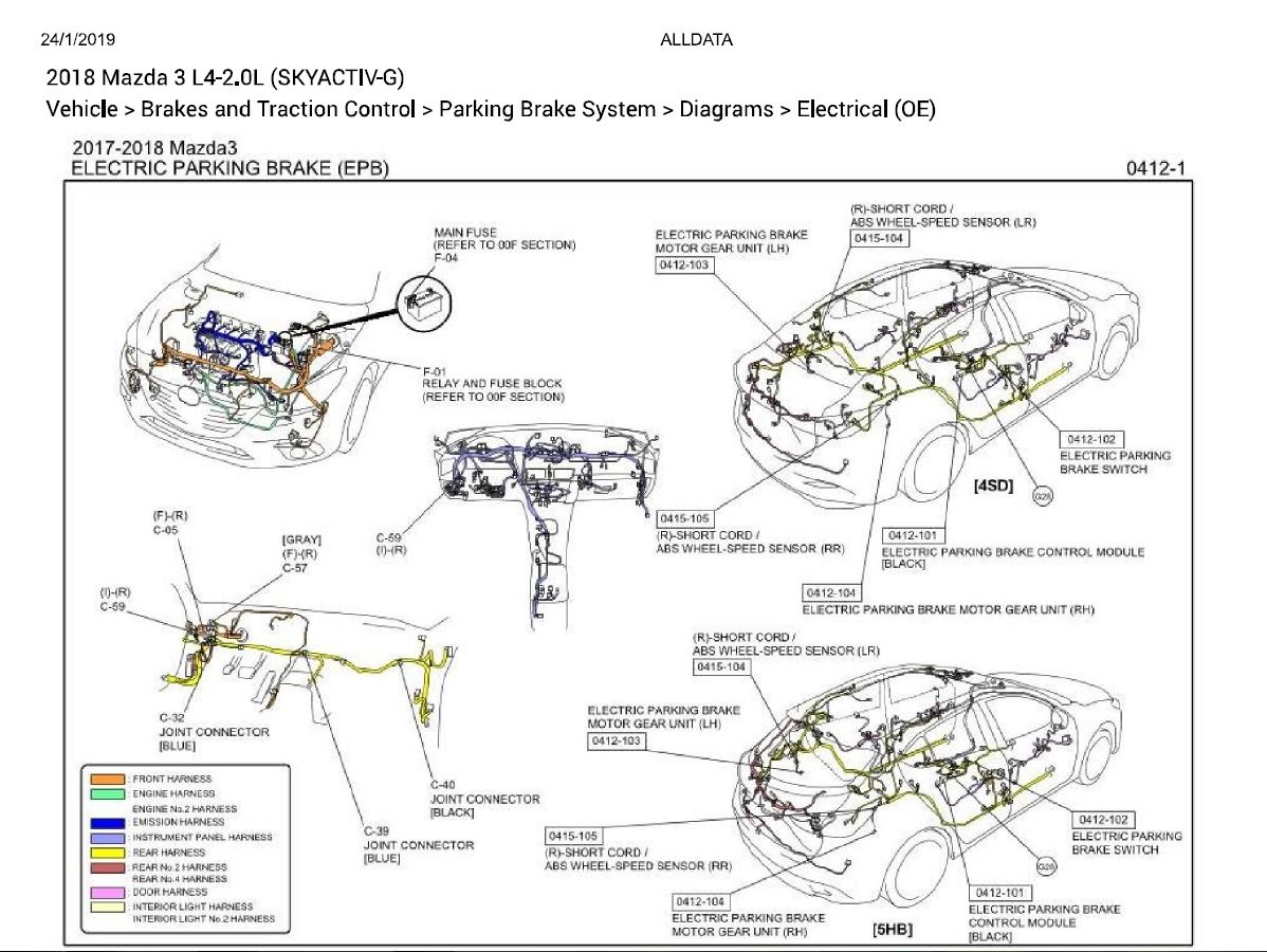 MAZDA_3 2018 L4-2.0L (SKYACTIV-G) DIAGNOSTIC WIRING