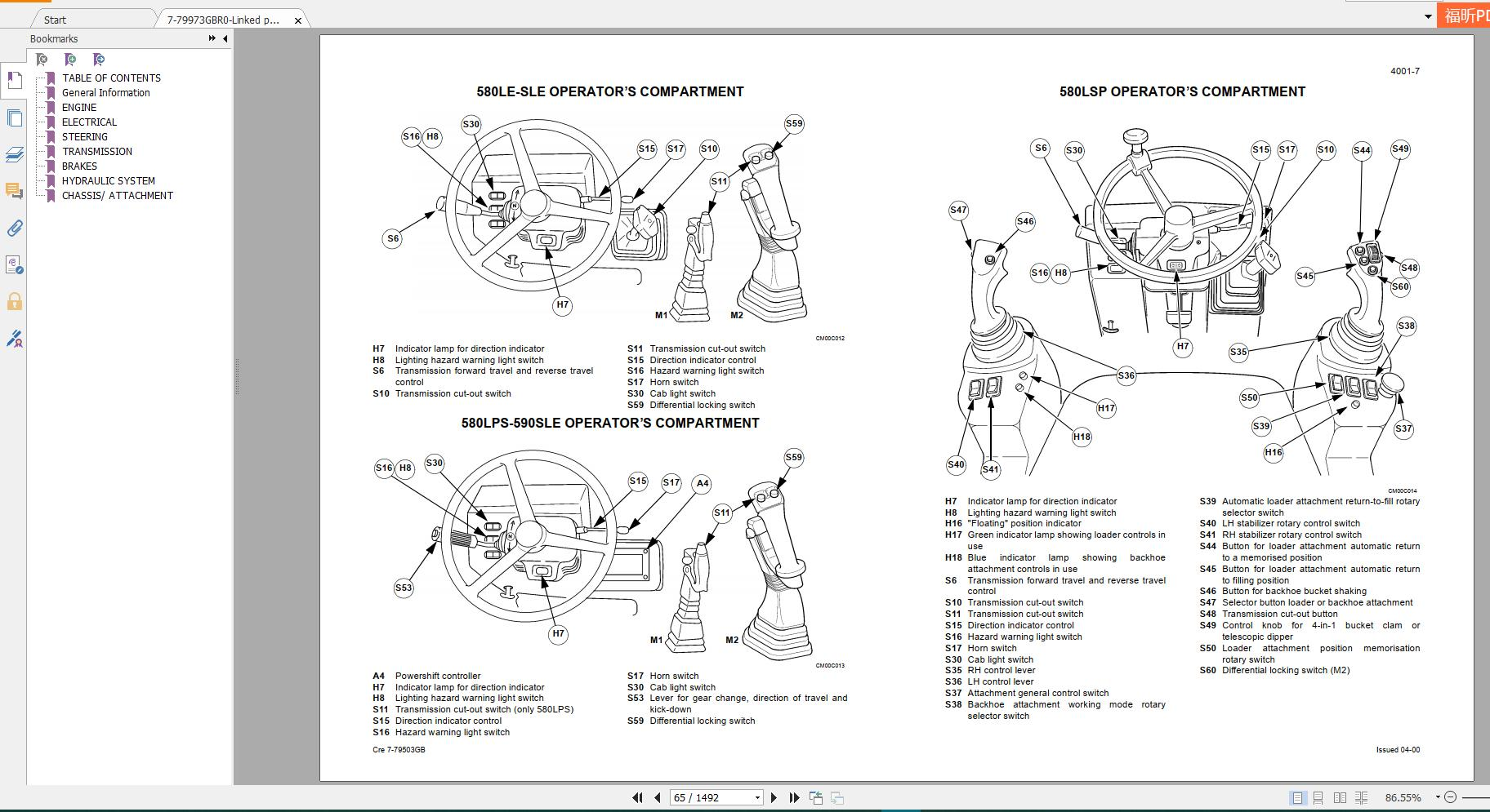 [ARMS] Case Backhoe Loader New Model Service Manual Full