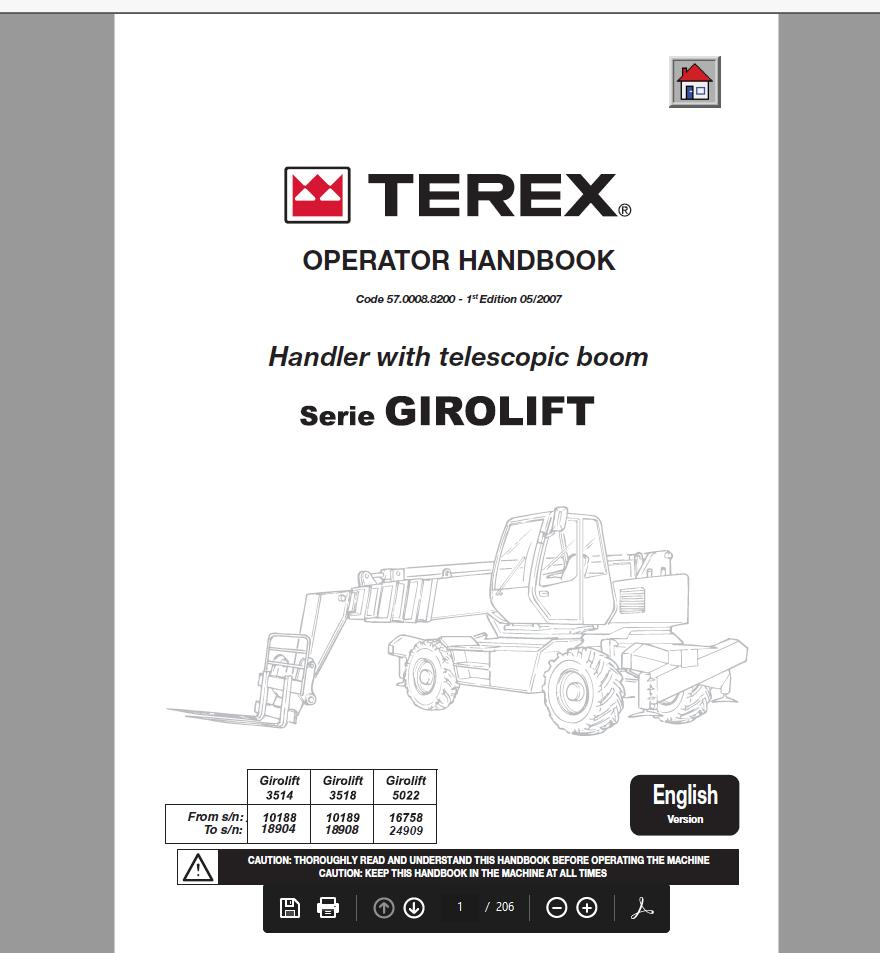 Genie Lift Operators Manuals Parts Manuals & Service