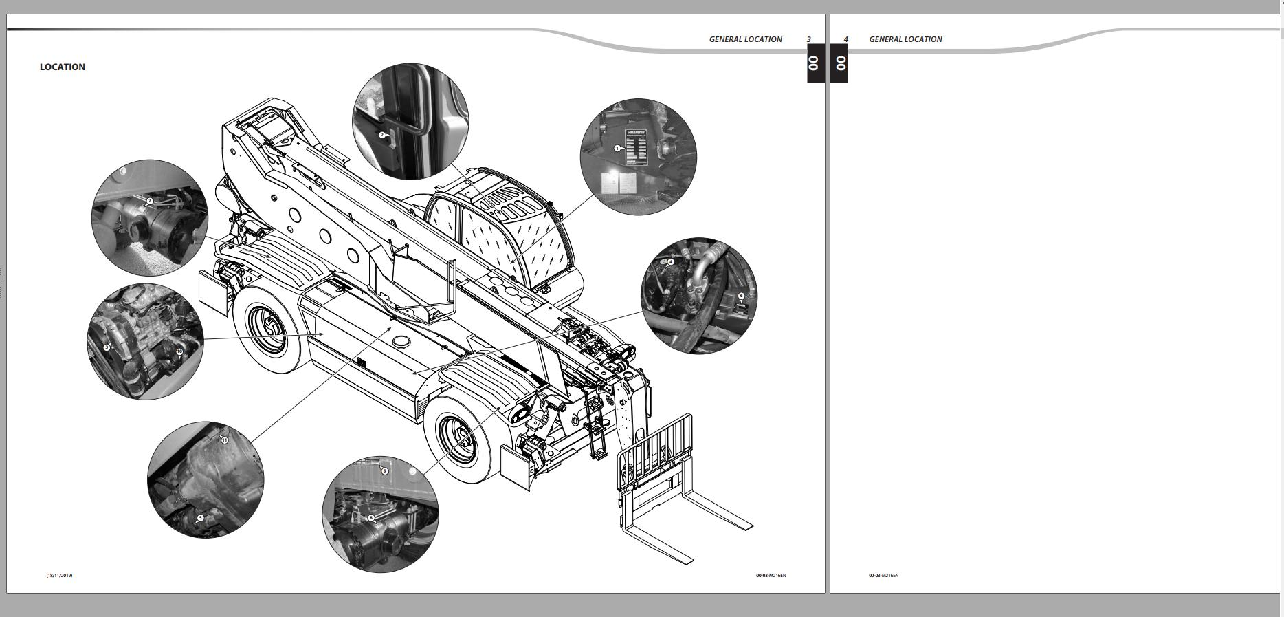 MANITOU Service Part and Operator Manual Full PDF DVD 13