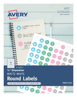 Avery 6450 Template : avery, template, Avery, Removable, Labels, Diameter,, (6450), Avery.com