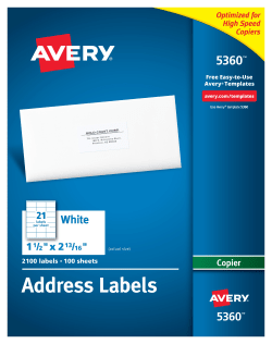 avery address labels for