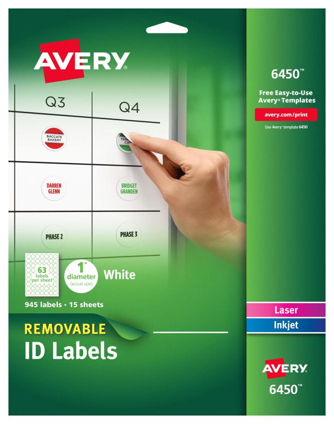 Avery 6450 Template : avery, template, Avery, Label, Template, Labels, Database