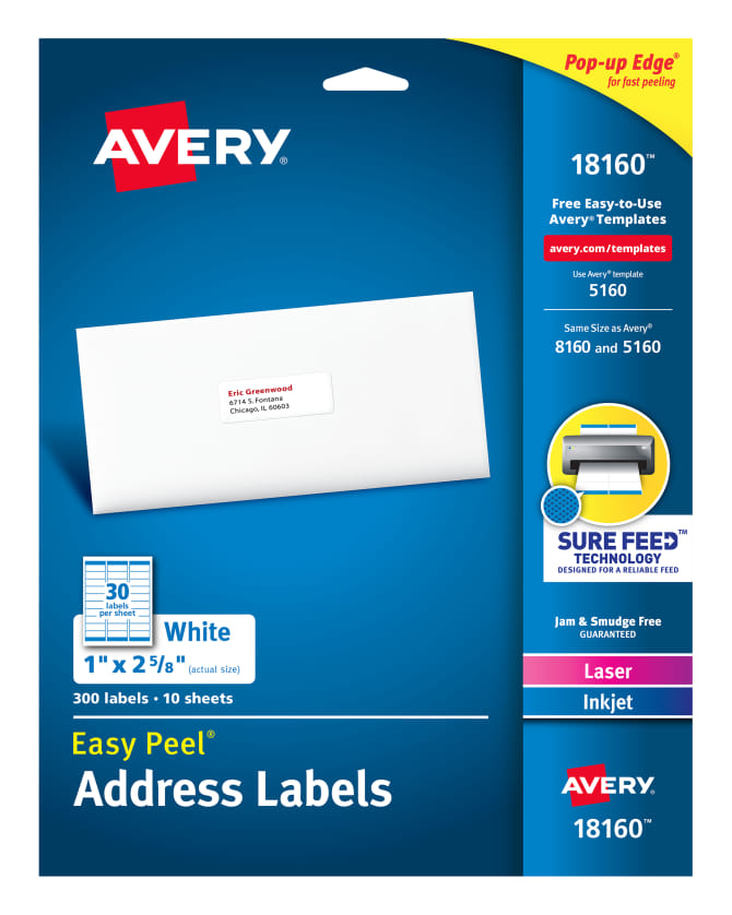 Avery Address Labels 8160 Template Download