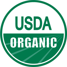 Organic symbol indicates the product meets strict production and labeling requirements of USDA