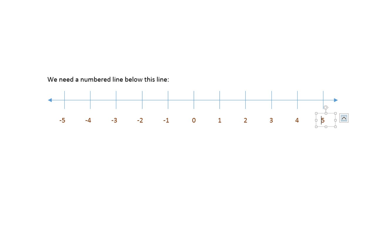 How Do I Create A Number Line In Microsoft Word