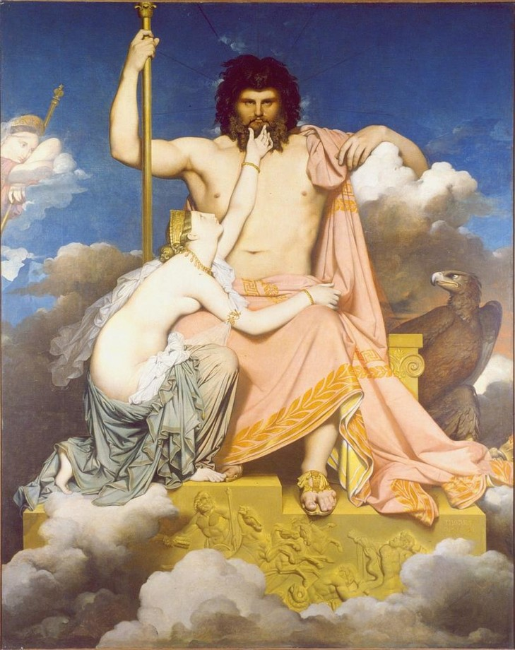 Jupiter et Thétis, deJean-Auguste-Dominique Ingres (1811, huile sur toile).