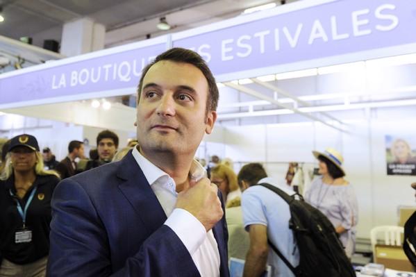 Florian Philippot lors de l'université d'été du FN à Fréjus le 17 septembre 2016 / AFP/Archives