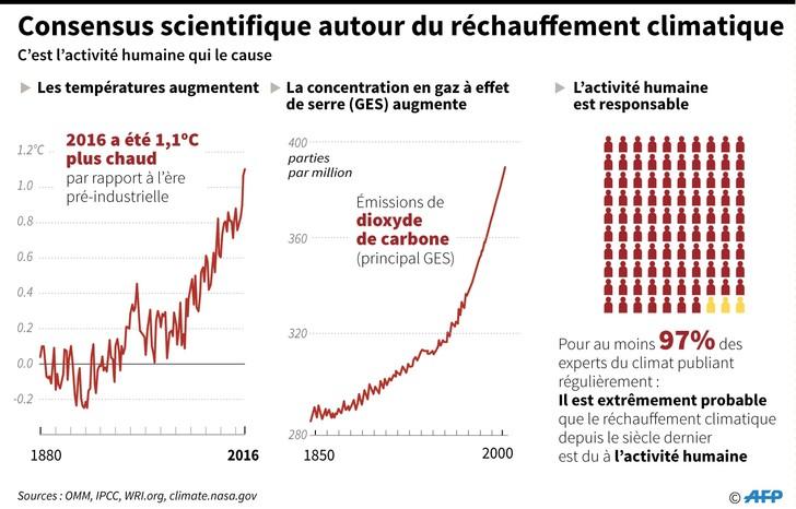 Consensus scientifique autour du réchauffement climatique. / AFP