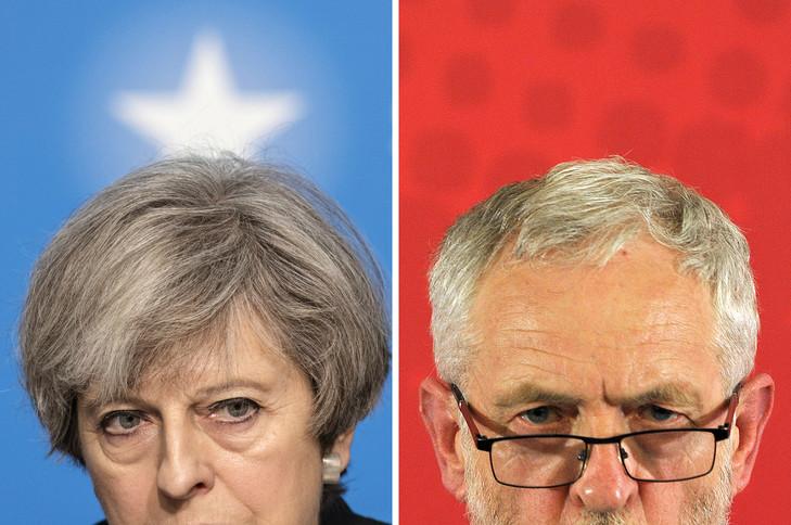 Theresa May et Jeremy Corbyn le 11 mai 2017.